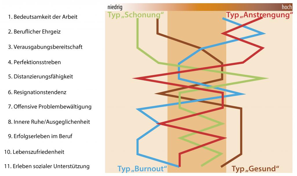 Darstellung des AVEM-Testergebnisses