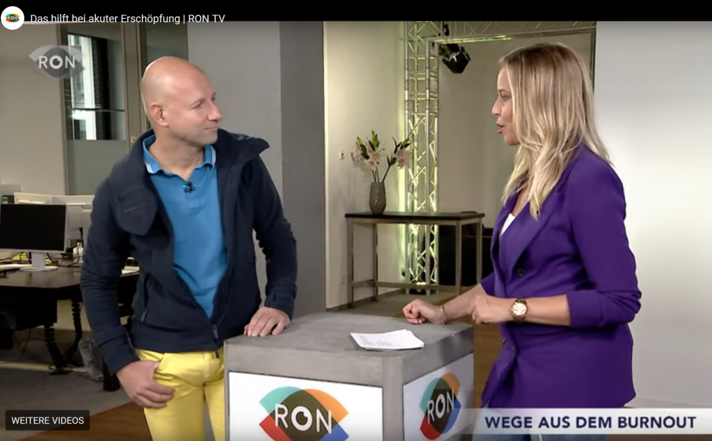 Interview bei RON TV über Burnout