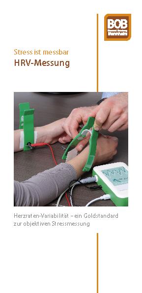 """Flyer: """"HRV-Messung"""" als PDF zum Download."""