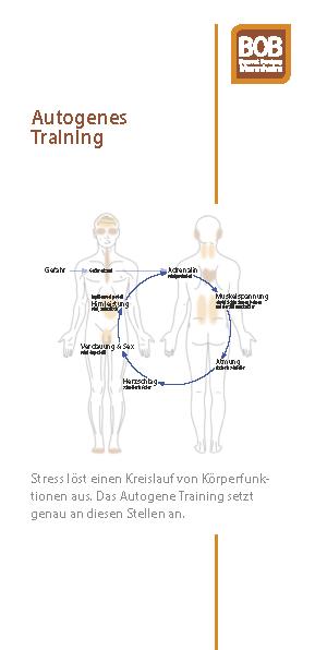 Flyer Autogenes Training als PDF